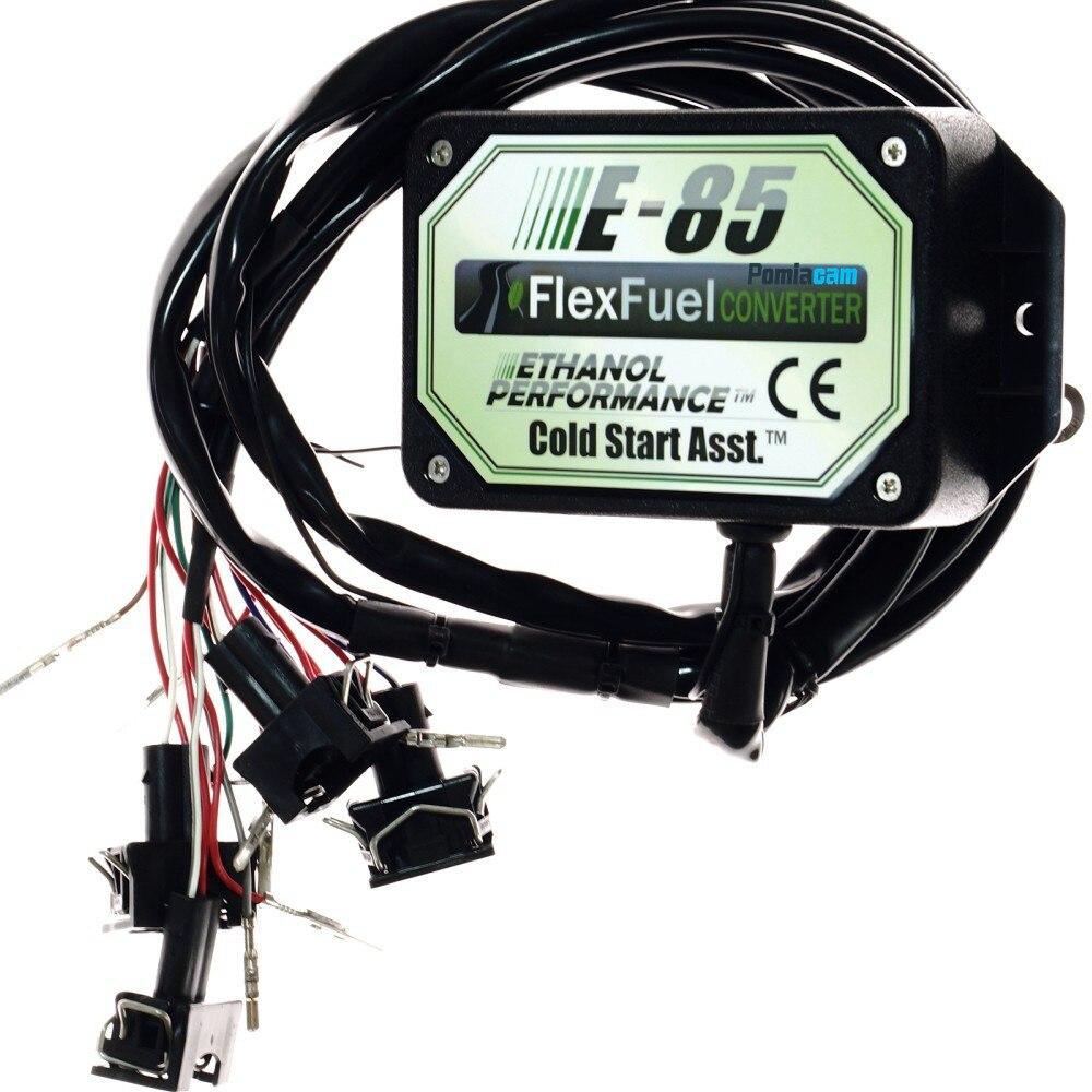 E85 kit de conversão 4cyl com arranque a frio ass. biocombustível e85, carro de etanol, conversor de bioetanol e85 flex kit de combustível
