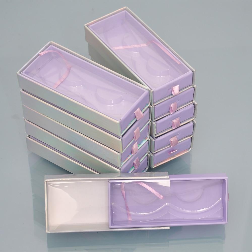 atacado caixa de embalagem de cilios falso cils vazio chicote embalagem com bandeja retangulo caso 25mm