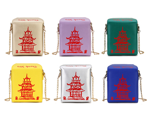 Image 3 - ENJOININ Chinese Takeout Box Purse Pu Leather Women Handbag Novelty Fashion Crossbody Bag Shoulder Chain Bag for Girl handbag