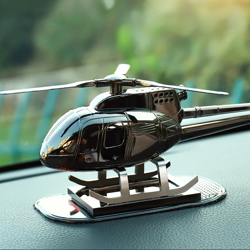 New Car Supplies Aromatherapy Helicopter Aircraft Decoration Gift Solar Car Perfume Fragrance Car Airplane Ornaments Accessories