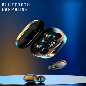 E7S Tws Bluetooth 5.0 écouteur sans fil casque stéréo Sport écouteurs mains libres casque avec micro étui de charge casque