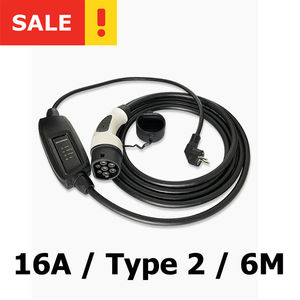16A Type 2 EVSE Car charger wi
