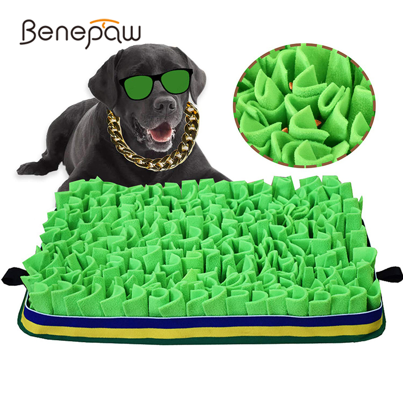 Benepaw Dog Puzzle Toys Snuffle Mat Eco-friendly Durable Slow Feeding Pet Training Pad Puppy Sniffing Encourage Foraging Skills