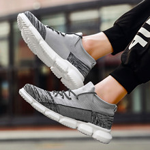 Casual sports shoes ultra light shock absorption wild trend