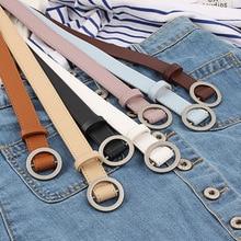 Модные Классические женские ремни с круглой пряжкой, широкий пояс, дизайнерские высококачественные женские повседневные кожаные ремни для джинсов