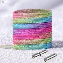 Giltter – lacets élastiques à fermeture rapide, couleur arc-en-ciel/imprimé Floral, pour enfants, femmes et hommes, chaussures unisexes, tendance