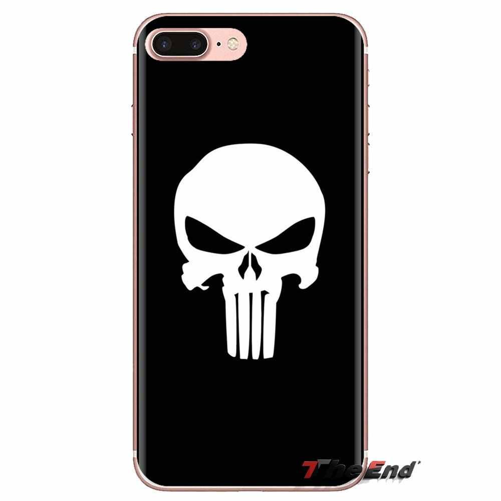 Couvertures de téléphone Pour Huawei G7 G8 P7 P8 P9 Lite Honneur 4C 5X 5C 6X Mate 7 8 9 Y3 Y5 Y6 II 2 Pro 2017 Gratuit 3D Crâne Fonds D'écran Pour Mac