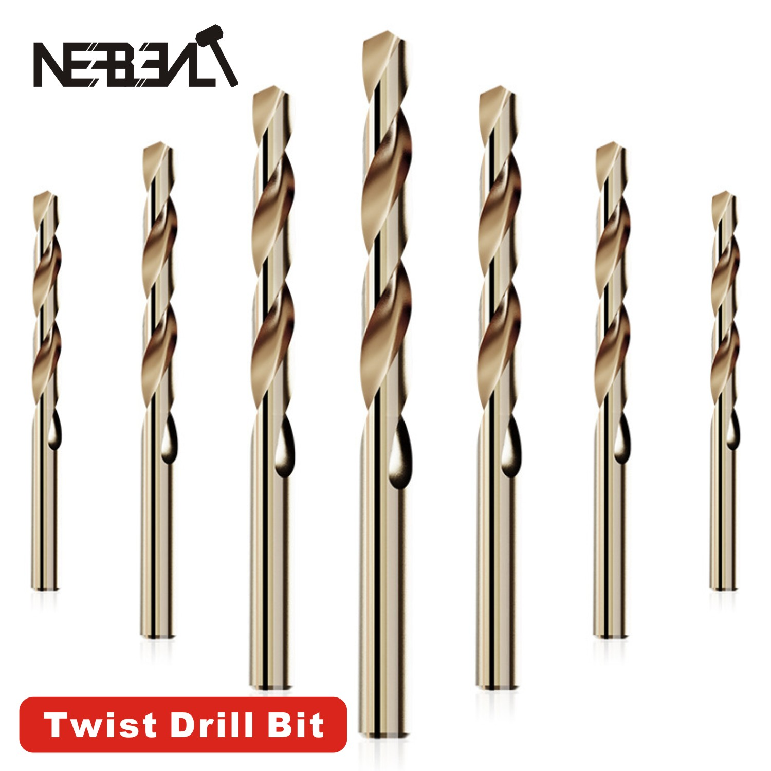 HSS Titanium Coated Twist High Speed Steel Drill Bit Set High Quality Power Drilling Tools For Wood 1/1.5/2/2.5/3/4/5/6/7/8/12mm