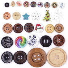 Animals Christmas Wooden Buttons for Scrapbooking Crafts DIY Clothing Sewing Button Handmade Decoration DIY apparel accessories 25pcs anchor urea button with four eye buttons retro fire button diy crafts clothing sewing accessories