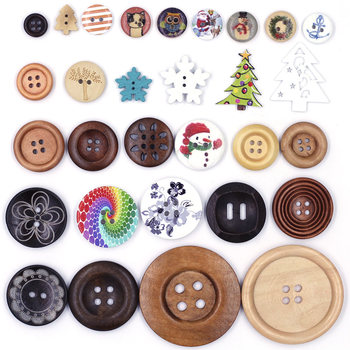 Animals Christmas Wooden Buttons for Scrapbooking Crafts DIY Clothing Sewing Button Handmade Decoration DIY apparel accessories free shipping 100 pcs mixed 7 colors square wood beads letter a z cube sewing scrapbooking crafts handmade 1 hole wooden button