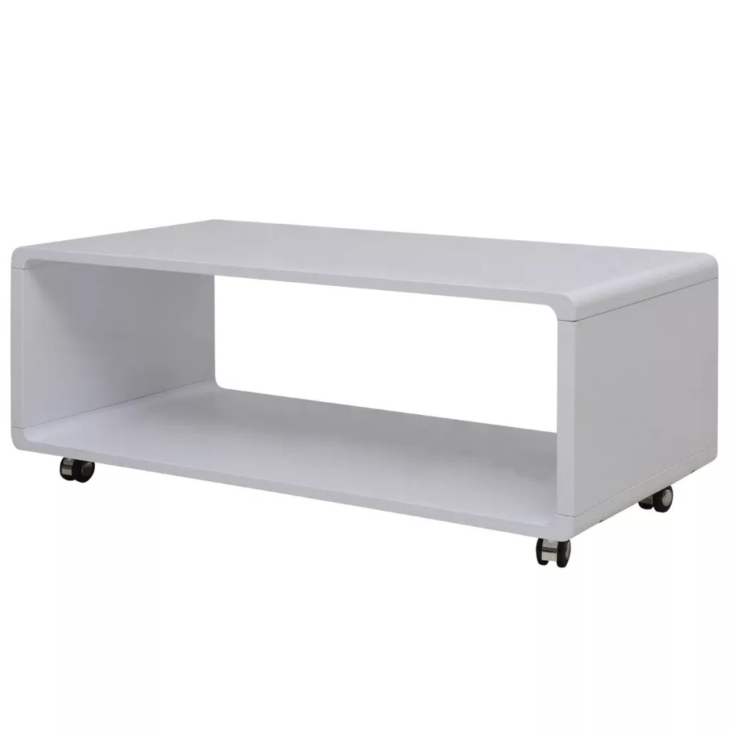 VidaXL High Gloss Coffee Table White 242975