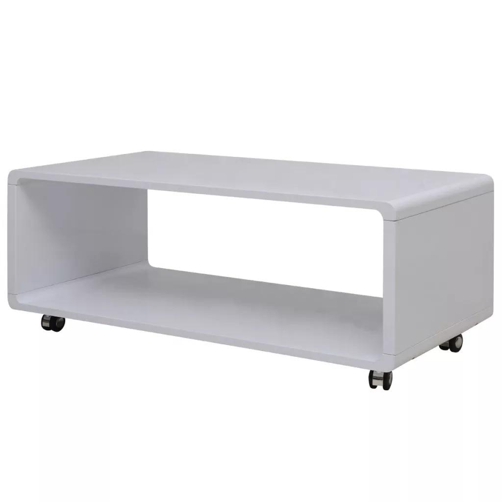 VidaXL High Gloss Coffee Table White 242975