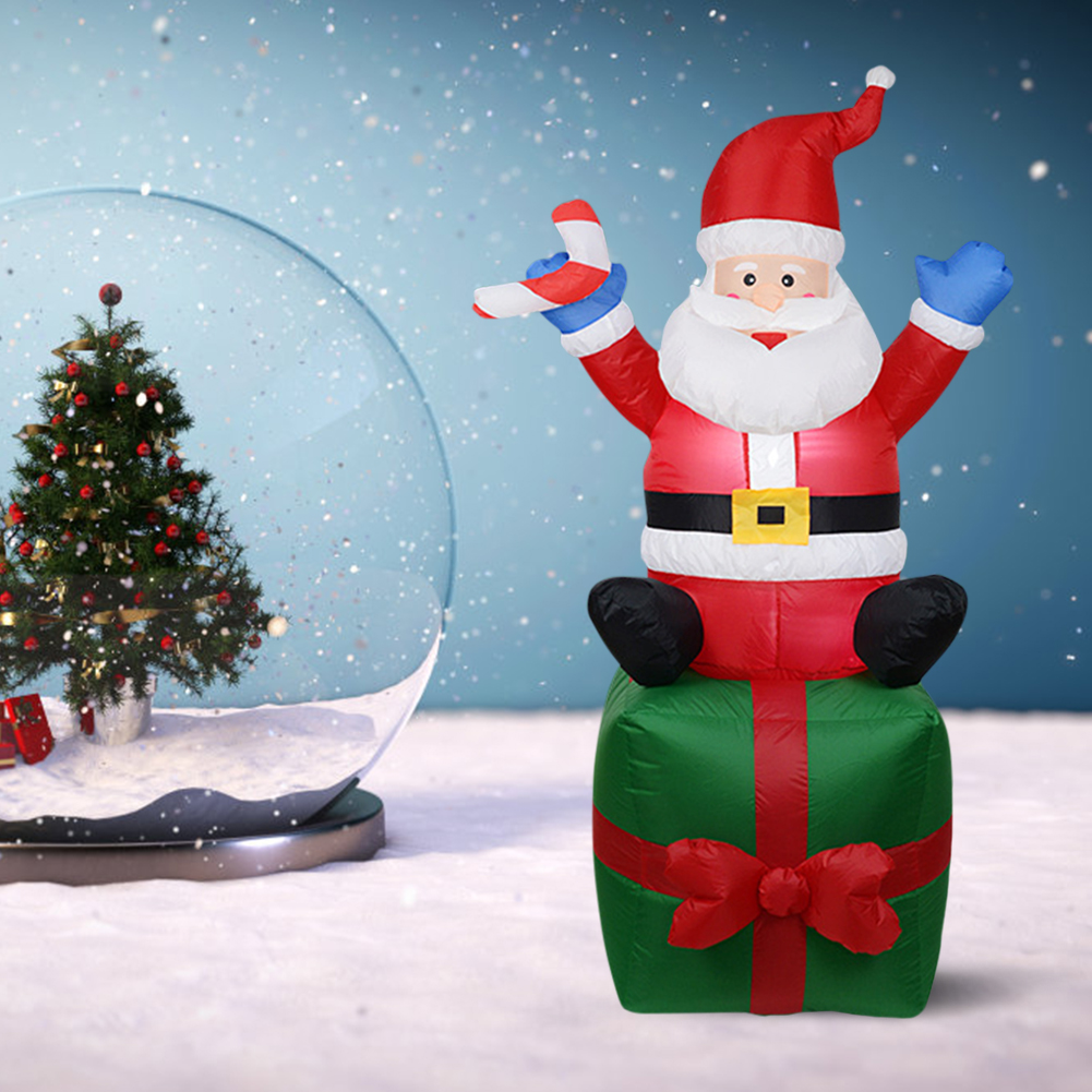 1.8m Inflatable Santa Claus Model Doll Christmas Suit Decoration Yard Prop For Xmas New Year Party Decor Navidad Ornament