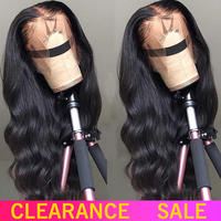 LS Lace Front Human Hair Wigs 13x4 Brazilian Hair Body Wave 150% Remy Pre Plucked with Baby Hair Bleached Knot Medium Ratio