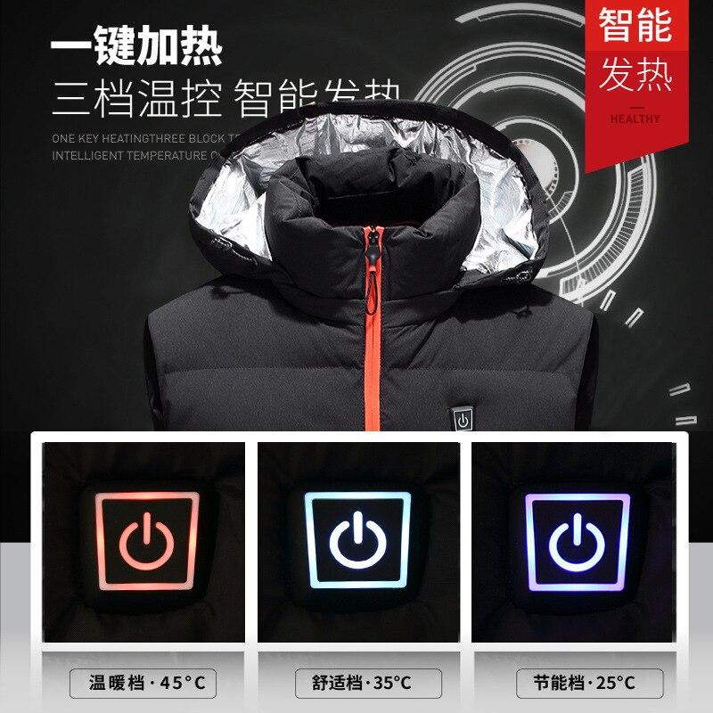 Smart Self-heating Vest Men's USB Electric Heating Waistcoat 2019 New Style Winter Warm Cotton Waistcoat Men's Heating Clothes