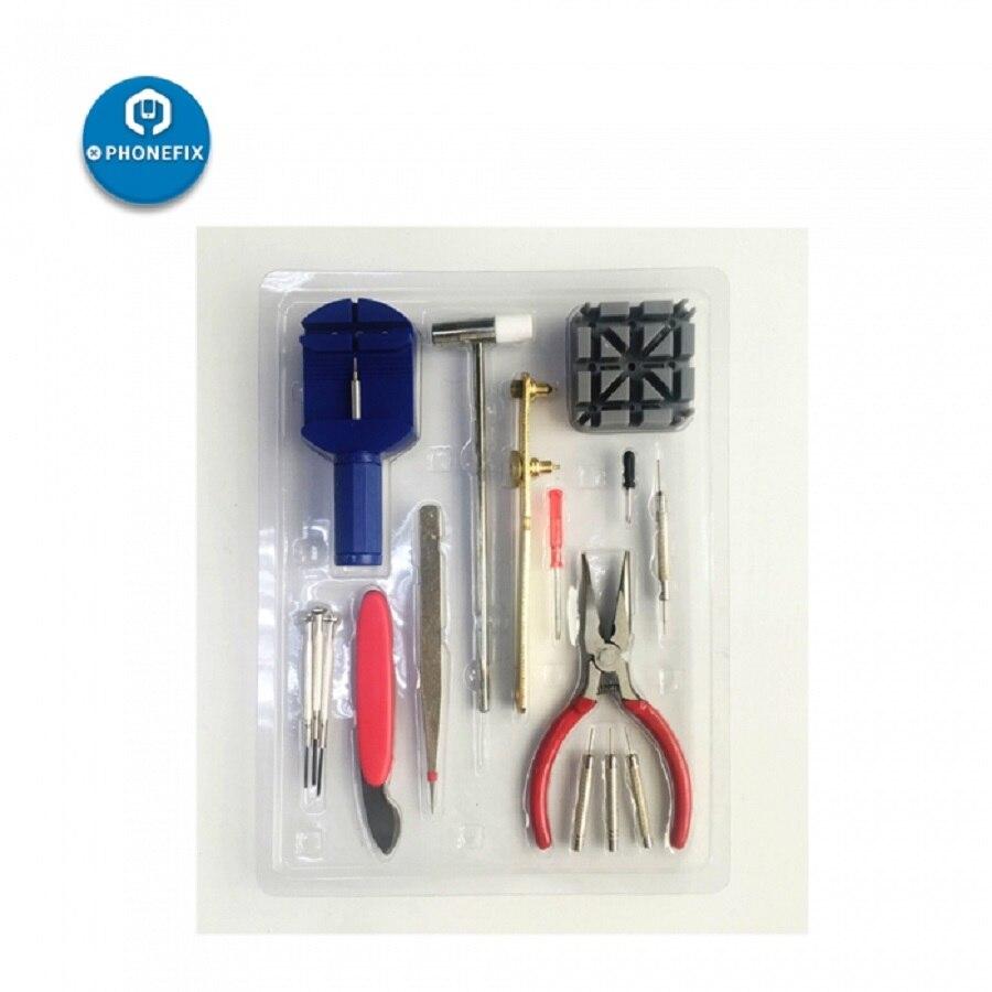 PHONEFIX 16Pcs Watch Tools Watch Opener Remover Spring Bar Pry Screwdriver Tweezers Watch Repair Tool Kit Watchmaker Tools Set