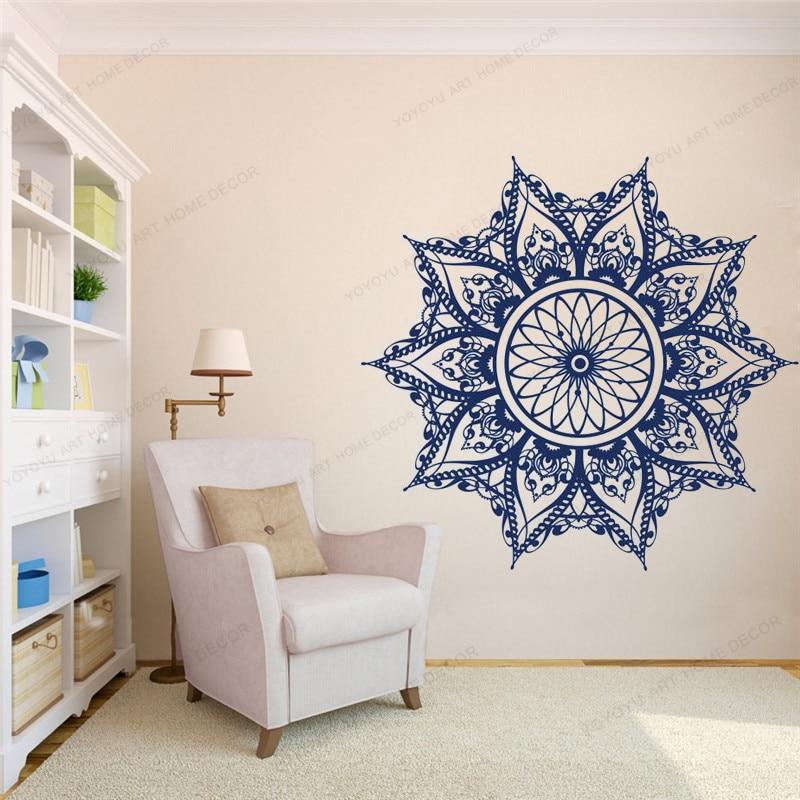 Mandala Wall Vinyl Decal Boho Decor For Bedroom Mandala Wall Art Mehndi Sticker Yoga Studio Decor Bohemian Decalswu351 Wall Stickers Aliexpress