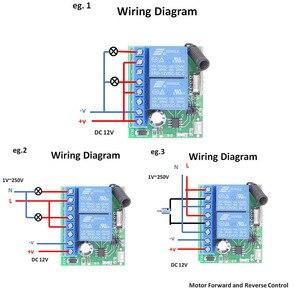 Image 2 - DC12V 10Amp 2CH 2 банды 433 МГц rf пульт дистанционного управления Переключатель Беспроводной релейный приемник для гаража \ освещение \ Электрический регулятор двери