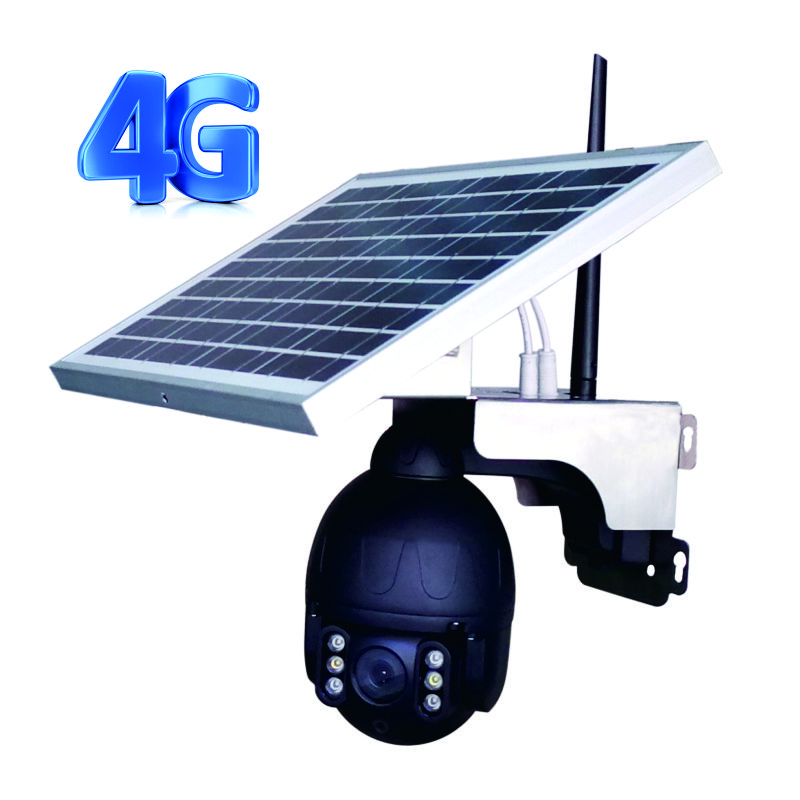 Outdoor 4g Home Guard CCTV Cameras Outdoor WIFI IP PTZ Speed Dome Solar Camera