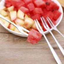 1/5/10pcs Stainless Steel Fruit Fork Cake Snack Dessert Salad Tableware Fork Home Cutlery Kitchen Gadgets Flatware Set Wholesale(China)
