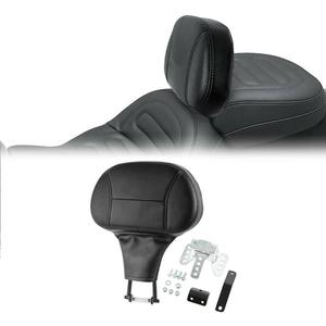 Motorcycle Black Driver Rider Backrest Pad Fit For Harley Touring Street Glide Road King 2009-2020