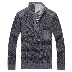 Image 5 - Covrlge теплые толстые бархатные кашемировые женские пуловеры на молнии с воротником стойкой мужская повседневная одежда большого размера 3XL MZM046