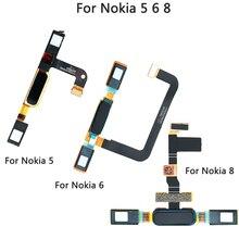 Nokia 5 için ev düğmesi parmak izi sensörü Flex kablo Nokia 5 6 8 ev geri anahtar dokunmatik kimlik onarım parçaları