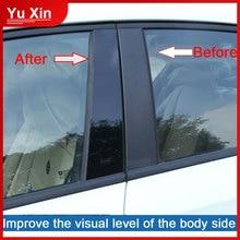 цена на 1set Car Exterior Accessories Piano Black Decorative Window Center Pillar Sticker For Kia K2 K3 K4 K5 Cerato KX3 KX5 Car styling