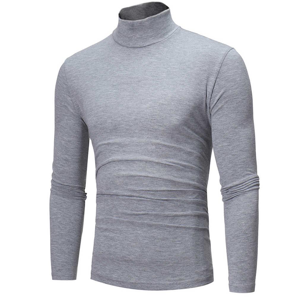 남자 패션 솔리드 컬러 긴 소매 거북이 목 스웨터 탑 긴 소매 거북이 목 스웨터 탑 스웨터 탑을 Bottoming