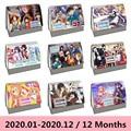 2020 Hot Japanischen Anime Naruto Conan Serie Schreibtisch Kalender DIY Cartoon Zeichen Spule Kalender Täglichen Zeitplan Planer-in Kalender aus Büro- und Schulmaterial bei