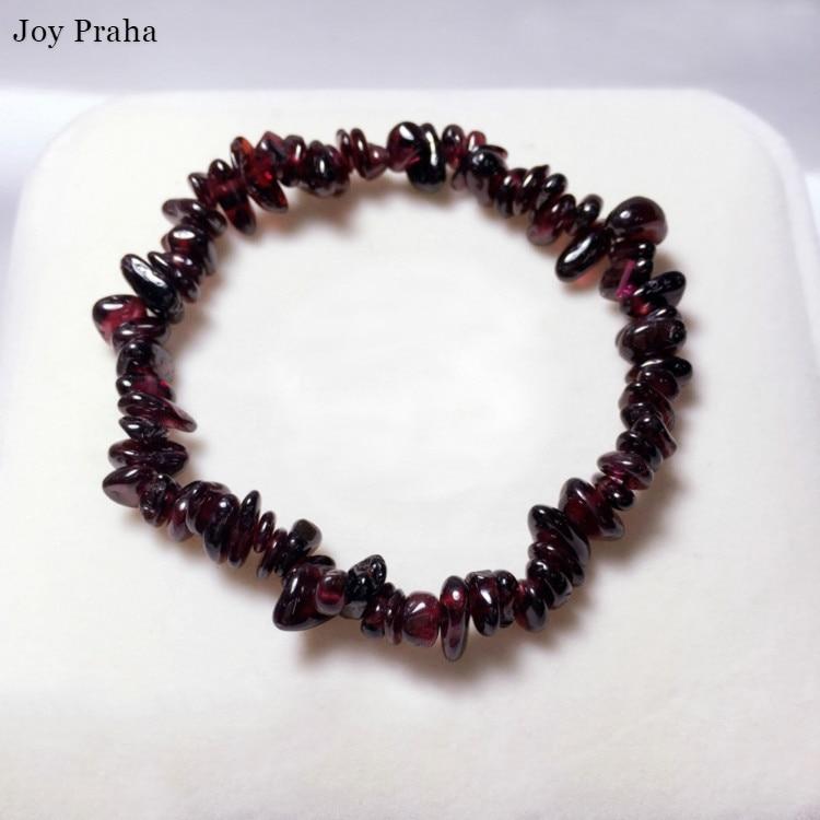 Natural Garnet Women Bracelet / Crushed Stone Bracelet Color Crystal Jewelry / Wholesale Dropshipping