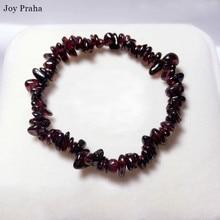Natural garnet ladies bracelet/ Squashed stone bracelet color crystal precious jewelry/ wholesale dropshipping