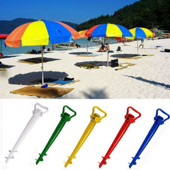 1 шт. Регулируемый солнцезащитный пляжный рыболовный стенд дождевик садовый патио зонтик наземный якорь Спайк зонтик растягивающийся стенд держатель