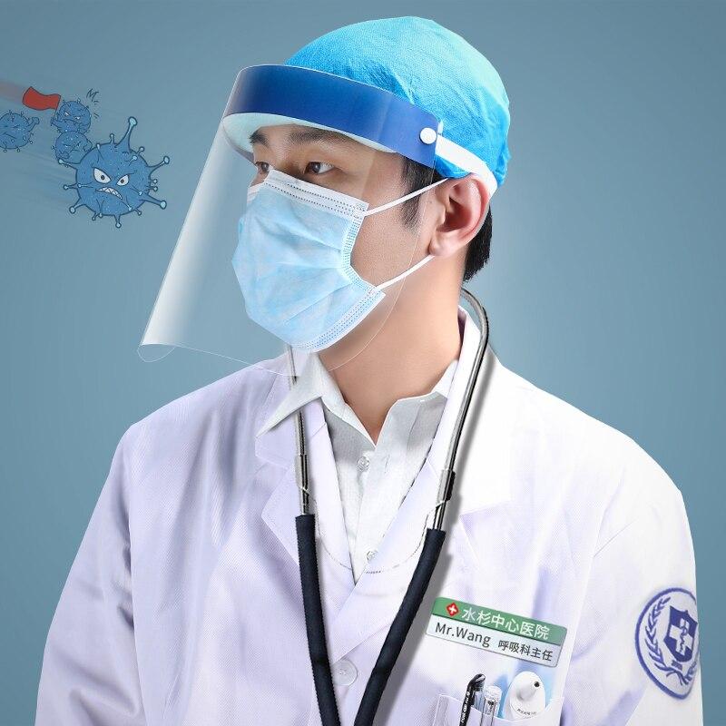 FACE SHIELD SPLASH PROOF เฟสชิลด์ หน้ากากโปร่งใส อุปกรณ์ป้องกันสารคัดหลั่ง ผู้ป่วยติดเชื้อ แพทย์ เวชภัณฑ์ ต่อสู้โควิด-19 2