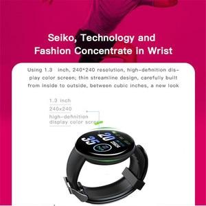 Image 3 - D18 pulseira inteligente banda rastreador de fitness heart rate mensagens de pressão arterial lembrete tela colorida à prova dwaterproof água esporte pulseira
