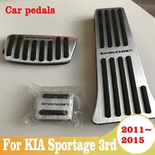 Aluminum allo Car Styling Accelerator Gas Pedal Brake Pedal Cover AT For KIA Spo