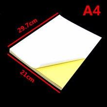 Folhas 50 A4 da Etiqueta Auto-adesiva, A4 Etiqueta de papel Adesivo Para Impressora Jato de tinta, fosco ou Brilhante para a escolha