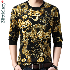 Image 1 - 2020 Brand New Casual Autumn Winter Warm Pullover Knitted Loong Male Sweater Men Mens Thick Mens Sweaters Jersey Clothing 41250