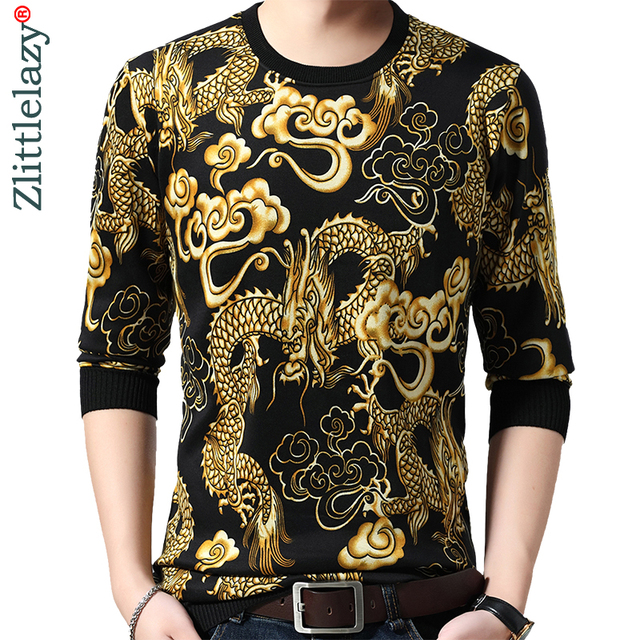 2020 Brand New Casual Autumn Winter Warm Pullover Knitted Loong Male Sweater Men Mens Thick Mens Sweaters Jersey Clothing 41250