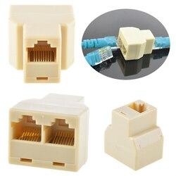 RJ45 CAT 5 6 LAN Ethernet Splitter Connector Adapter PC RJ45 Splitter Connector CAT5 Splitter Adapter Network Dual 10pcs/lot