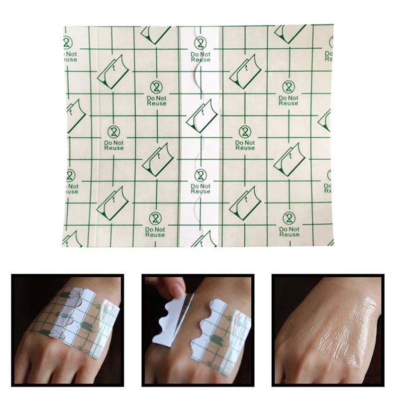 20Pcs 12*12cm Waterproof Transparent Tape PU Film Adhesive Plaster Anti-allergic Wound Dressing Fixation Tape
