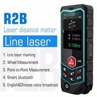 Mileseey Smart Bluetooth Laser Distance Meter USB Rechargable Rangefinder Laser Range Finder Wheel Laser Line Level R2 /R2B