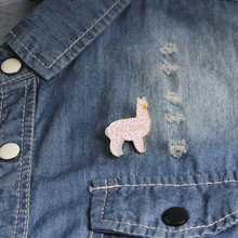 Alpaca pin Sheep brooches Cartoon brooch Badges Lapel Cute Kawaii Jewelry for girls jewelry collection
