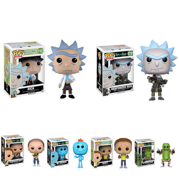 фигурка funko pop vinyl rick and morty 10 rick 47379ie Funko POP Rick and Morty Original Box MR.MEESEEKS PICKLE RICK with Laser Vinyl Action Figure Collection Model Toys 2F28