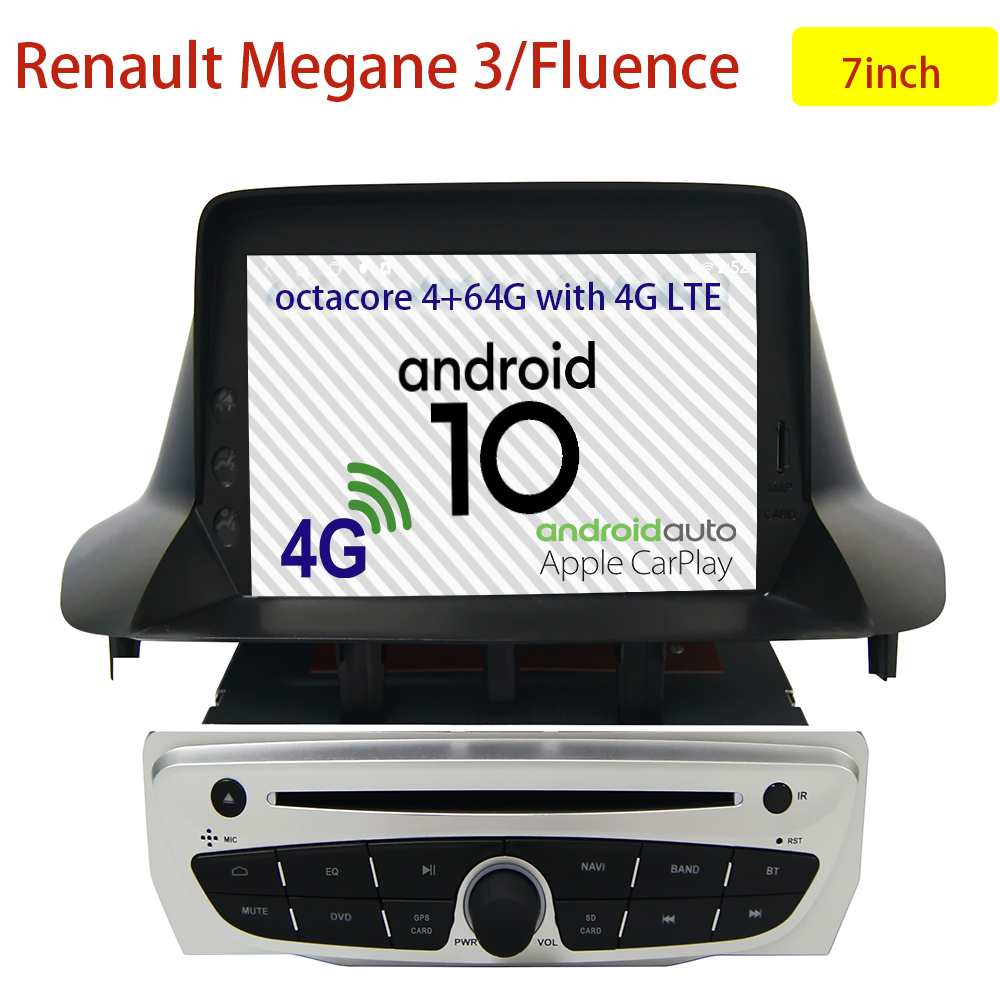 car dvd auto-radio 2-din android <font><b>gps</b></font> renault <font><b>megane</b></font> <font><b>3</b></font> fluence 2014 2015 multimedia radio android 10 <font><b>gps</b></font> navi audio accessories image