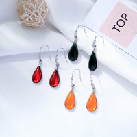 New Arrival Red/Green/Yellow Color Resin Drop Earrings For Women Bohemia Handmade Charming Date Gift Earring Jewelry