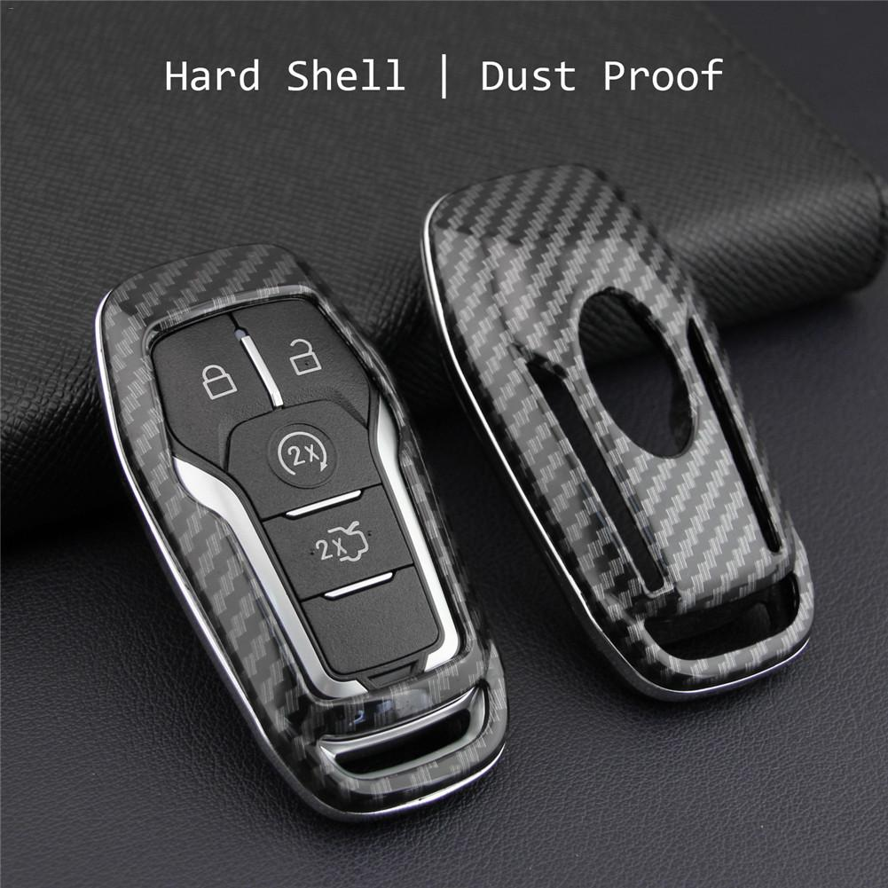 cheapest Key Case Fob Bag Holder ABS Hard Shell Cover Parts Fit For Ford Mondeo Mustang Edge Explorer F150 key cover