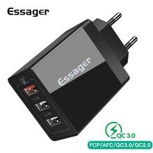 Essager USB зарядное устройство QC3.0 30 Вт Быстрая зарядка 3,0 настенное зарядное устройство для iPhone Xiaomi samsung Быстрое зарядное устройство адаптер зарядного устройства для мобильного телефона