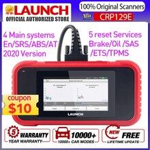 Launch X431CRP129E outil de Diagnostic de voiture, fonctionnement complet de SRS/ABS/EN/AT, câble OBD2, avec 5 Services de réinitialisation, x431 CRP129X, lecture du Code