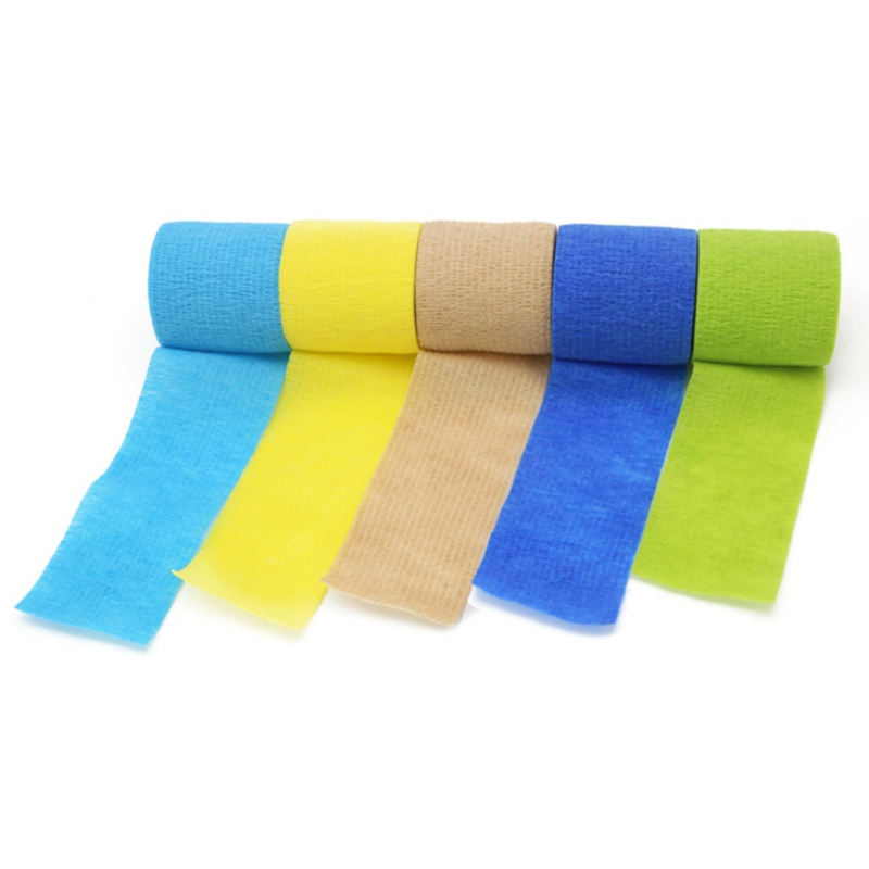 4 5m Colorful Sport Self Adhesive Elastic Bandage Wrap Tape Elastoplast For Knee Support Pads Finger Ankle Palm